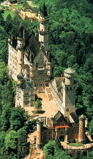 The castle at Neuschwanstein.