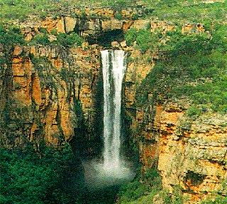 Spectacular Jim Jim Falls in Kakadu National Park.