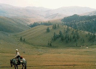 Altai Mountains, once the trail of Ghengis Khan.