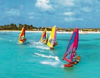 Caribbean windsurfing