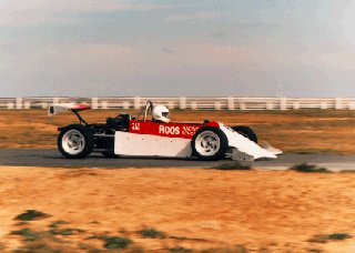 A racer in a Formula 2000 car.