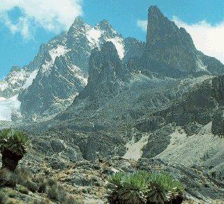 The crags of Mt. Kenya.
