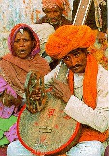 Local musicians perform.