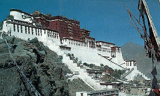 The city of Lhasa in Tibet.