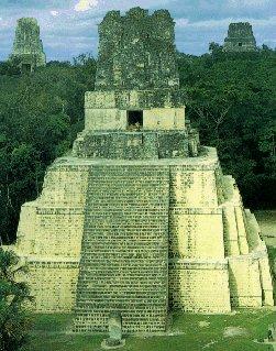 The temple pyramids of Tikal.