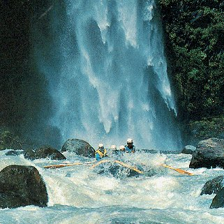 Rafting the Bio-Bio River in Chile.