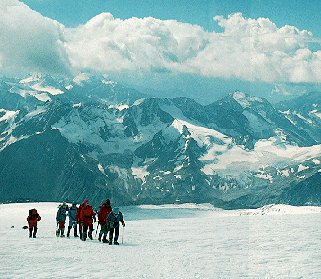 Climbers on Mt. Elbrus.