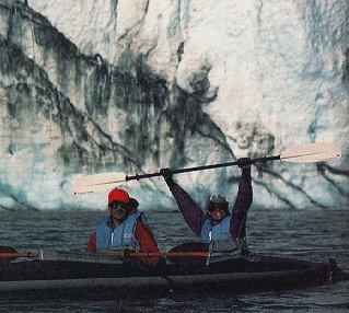 Pumping oar in Glacier Bay.
