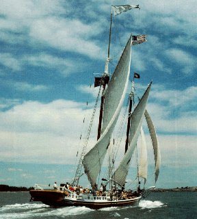 Schooner Stephen Taber under sail.