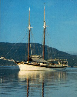 Schooner Manitou at anchor.
