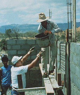 Building homes in foreign lands.