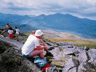 Survival school students in mountainous Wales.