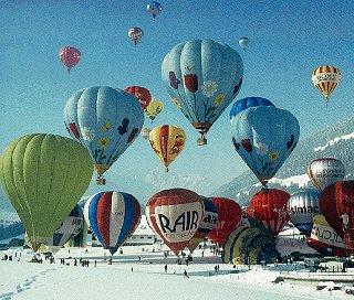 Balloons aloft in Switzerland.