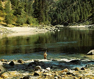 Fishing the Middle Fork of the Salmon River.