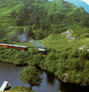 The Royal Scotsman steams over the Highlands.