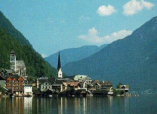 The lakefront town of Hallstatt, Austria.
