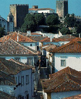 The town of Obidos in Portugal.