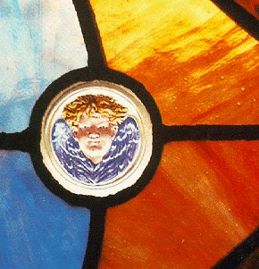 A glimpse of stained glass.