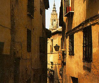 The lovely streets of ancient Toledo.