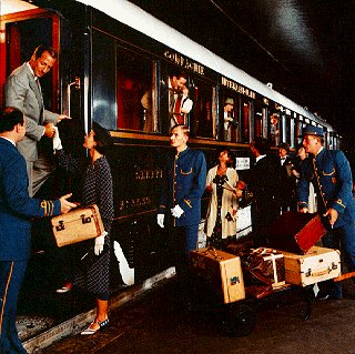 Travel in vintage style aboard the Orient Express.