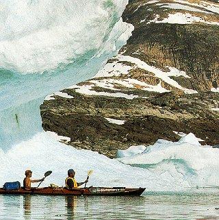 Enjoy some dramatic kayaking.