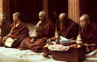 Mongolian monks.