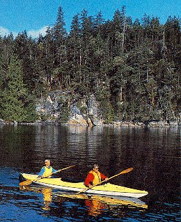 Paddlers enjoy the San Juan Islands.