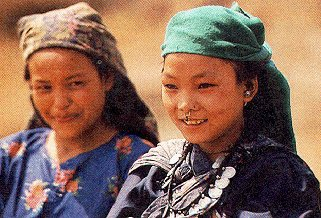 Nepali girls of the Gorkha region.