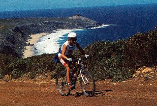 Idyllic cycling on Kangaroo Island.
