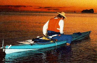 An evening paddle in the Sea of Cortez.