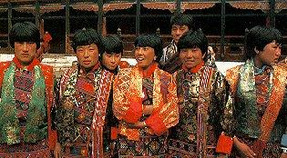 Dancers at a festival in Bhutan.