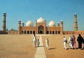 The Badshahi Mosque in Lahore.