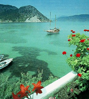 The coast of Turkey.