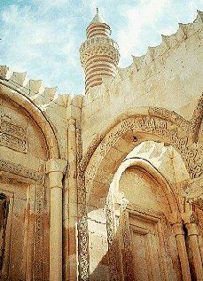 The Ishak Pasha Saray mosque in Turkey.
