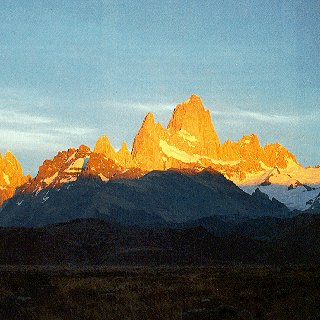The peaks of the Fitzroy in Patagonia.