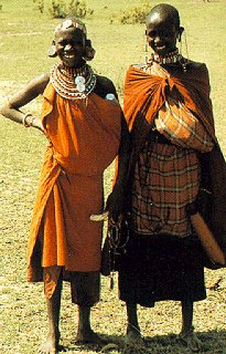 Young women in native dress.