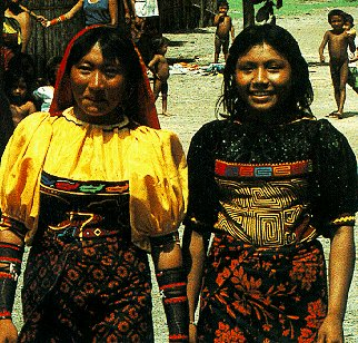 Two young women of the Kuna Indians.