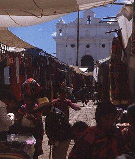 Market day in Chichicastenango, Guatemala.