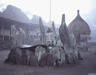 Megalithic ancestral tomb on Flores Island.