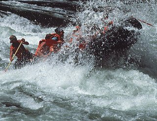 Rafting on the Salmon River.