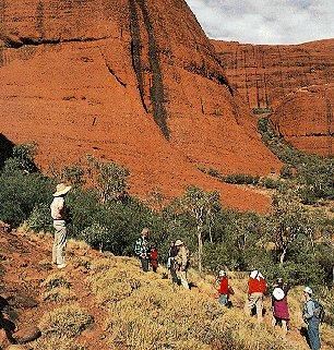 Hiking in Australia's Outback.