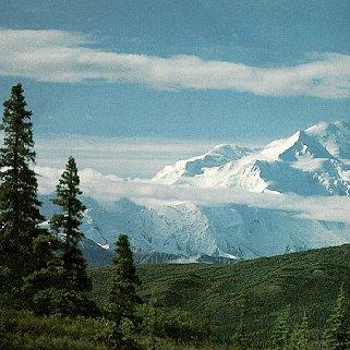 The beautiful snowcaps of Alaska's parklands.