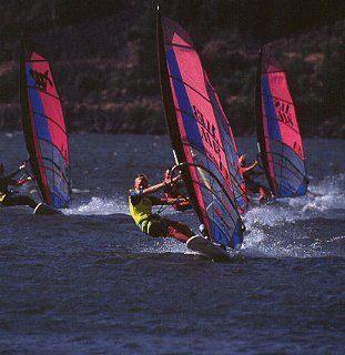 Columbia Gorge windsurfing.