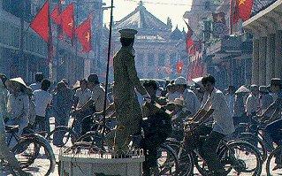 A street scene in Hanoi.