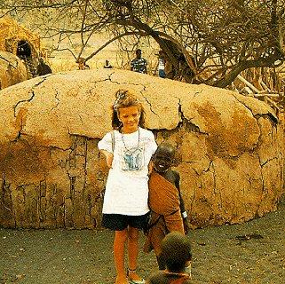 Finding a friend in Africa.