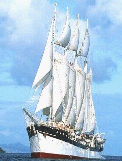 Majestic Fantome plies Caribbean waters,.