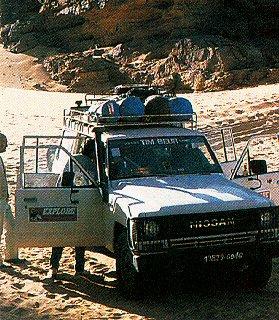 Take an overland trip through the desert.