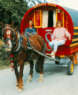 Travel by Horse-Drawn Gypsy Caravan