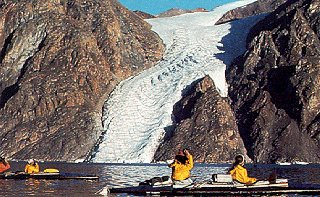 Kayaking in the Arctic.