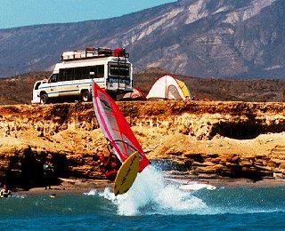Base camp in Baja.